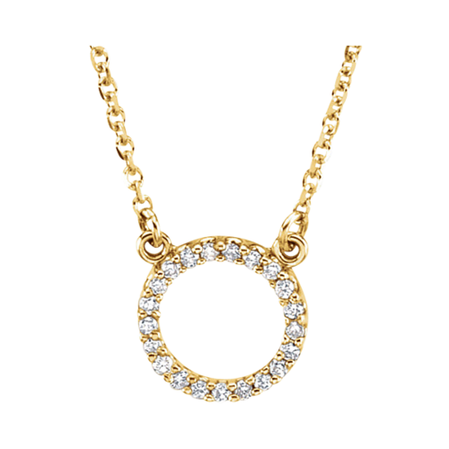 14kt Gold Diamond Circle Necklace