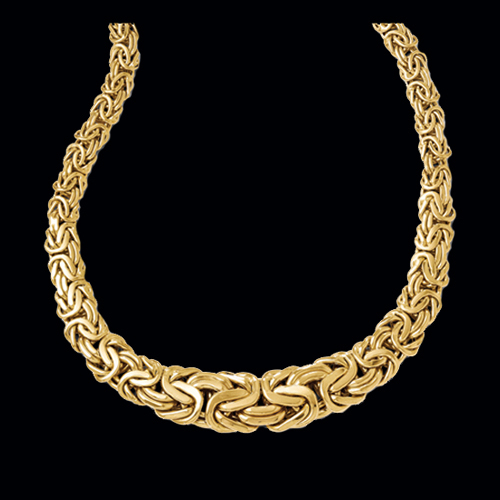Beautiful Gold Byzantine Fashion Necklace