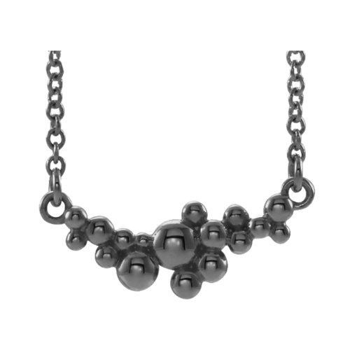 Platinum Scattered Bead Necklace