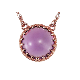 Gemstone Necklaces 14K Rose Gold Amethyst Necklace