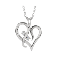 Diamond Necklaces Lovely Diamond Heart Necklace