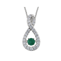 Gemstone Necklaces Emerald Diamond Moving Necklace