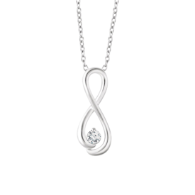 Infinity Inspired Diamond Necklace