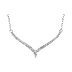 "14kt Gold Diamond ""V"" Necklace"