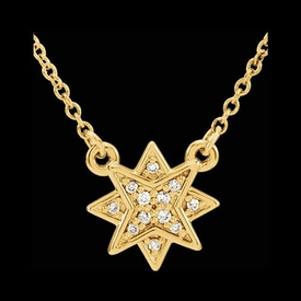Dainty Star Diamond Necklace