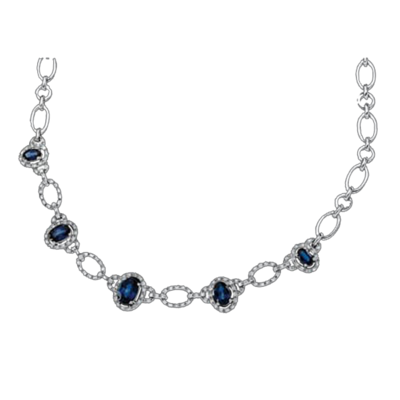 Stunning Sapphire and Diamond Necklace