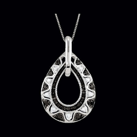 Trendy Black & White Diamond Necklace