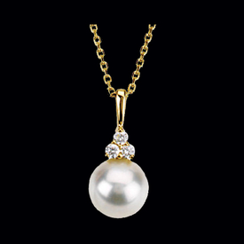 Cultured Pearl & Diamond Necklace