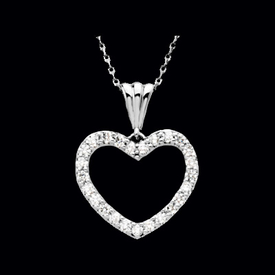 14kt Gold Diamond Heart Necklace