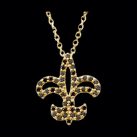 Black Diamond Fleur-De-Lis Necklace