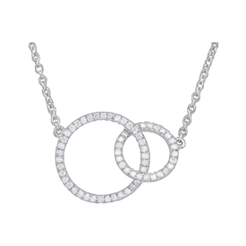 Diamond Necklaces Trendy Diamond Circle Necklace