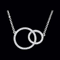 Trendy Diamond Circle Necklace