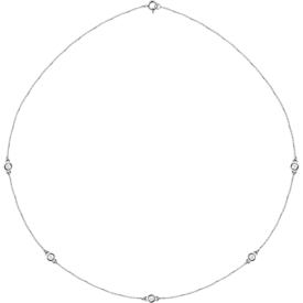 Diamond Necklaces Diamond Bezel Station Necklace