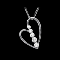 Diamond Necklaces Journey Diamond Heart Necklace