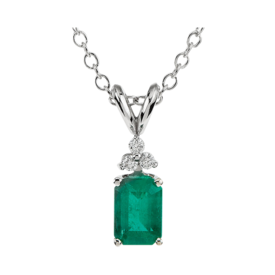 Gemstone Necklaces Gorgeous Emerald Diamond Necklace