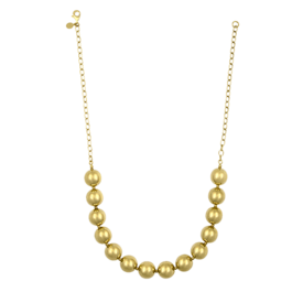 Gold Necklace 14k Gold Shiny Ball Necklace