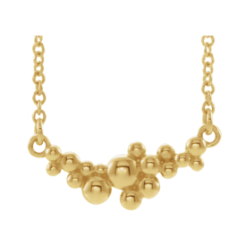 Gold Necklace 14k Gold Scattered Bead Necklace