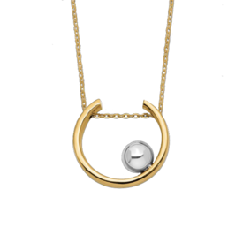 Gold Necklace Stylish 14k Two Tone Gold Necklace