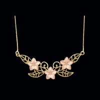 Two Tone Plumeria Necklace