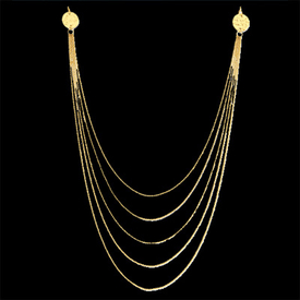 Five Strand 14k Gold Necklace
