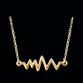 Gold Necklace 14k Gold Heartbeat Necklace