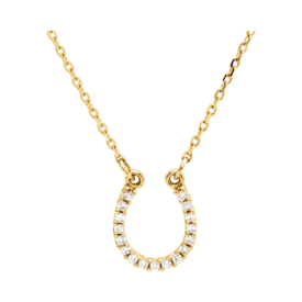 Diamond Necklaces 14k Diamond Horseshoe Necklace