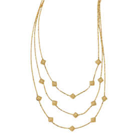 Gold Necklace 23LF101075-1 14k Gold 3 Strand Necklace