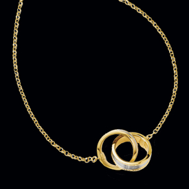 Entwined Bands Gold Necklace