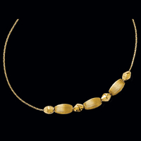 Fancy Gold Bead Design Necklace
