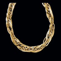 Gold Fashion Link Necklace