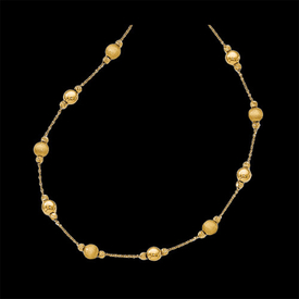Gold Scratch Finish Fashion Necklace