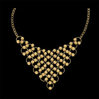 14k Gold Fashion Bib Necklace