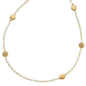 Beaded Station Gold Necklace