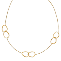 14k Yellow Gold Satin Link Necklace