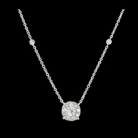 Gold Diamond Drop Necklace