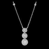 Diamond Three Drop Necklace