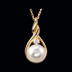 Akoya Pearl Twist Design Necklace