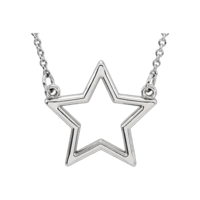 Platinum Necklaces Platinum Star Pendant