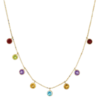 Gemstone Necklaces Multi-Color Gemstone Necklace