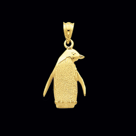 Animal Charms Gold Penguin Pendant