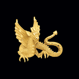 Bold Gold Dragon Pendant