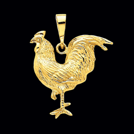 Big Gold Rooster Pendant