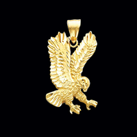 Gold Hunting Eagle Pendant