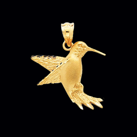 Gold Hummingbird Pendant
