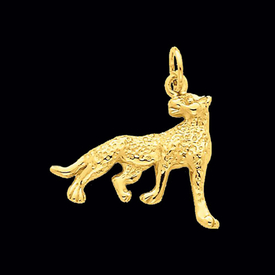 Gold Cheetah Pendant
