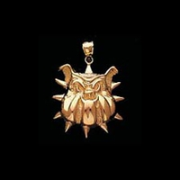 Spike Gold Dog Charm Pendant