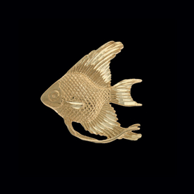 Nautical Gold Charms Gold Angel Fish Pendant