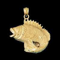 Fancy Big Bass Pendant