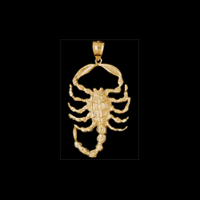 Gold Scorpion Pendant