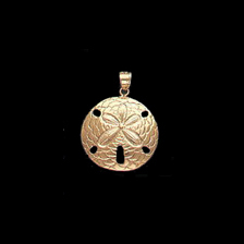 Nautical Gold Charms Gold Sand Dollar
